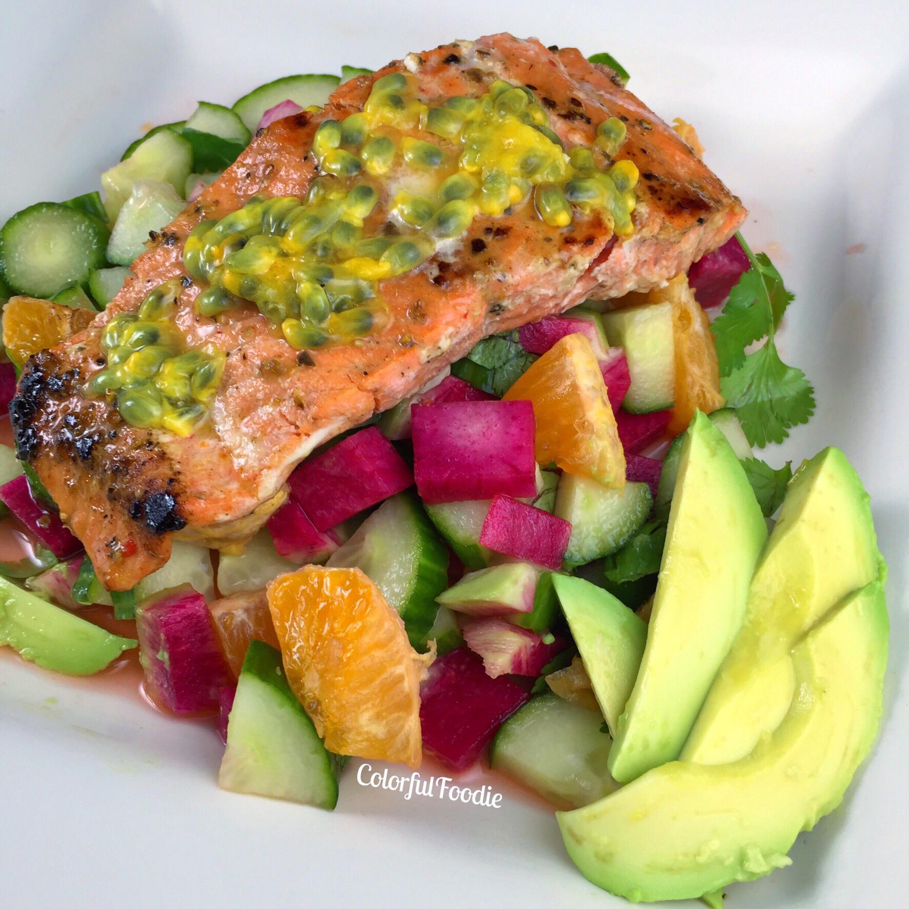 Egg Salad, Salmon, And Radish Sandwich Loaf Recipe — Dishmaps